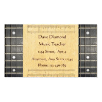 Banjo Strings Fretboard Sheet Music Business Cards Business Card  at Zazzle