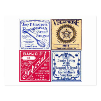 Banjo Strings Postcard