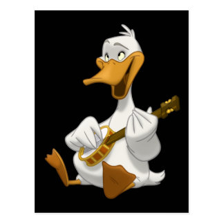 Banjo-Strummin Duck Postcard