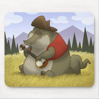Banjo-Strummin' Gator Mousepad