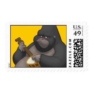 Banjo-Strummin' Gorilla Stamps