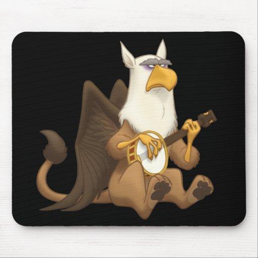 Banjo Strummin' Gryphon Mousepad