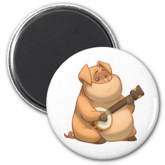 Banjo-Strummin' Pig Magnet
