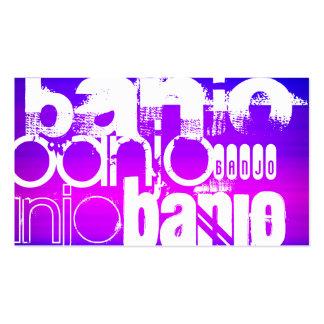 Banjo; Vibrant Violet Blue and Magenta Business Card
