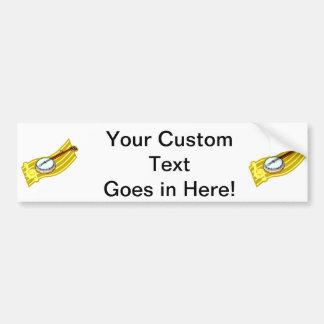Banjo With Treble Clef ribbon design Car Bumper Sticker