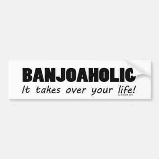 Banjoaholic Life Bumper Sticker