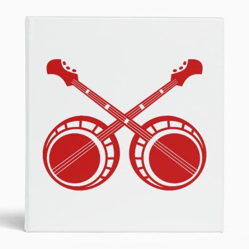 banjos cruzados rojos