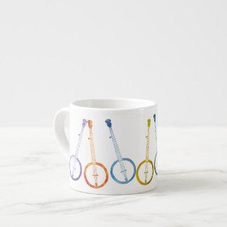 Banjos del arco iris taza espresso