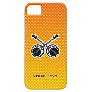 Banjos en duelo amarillo-naranja iPhone 5 Case-Mate coberturas