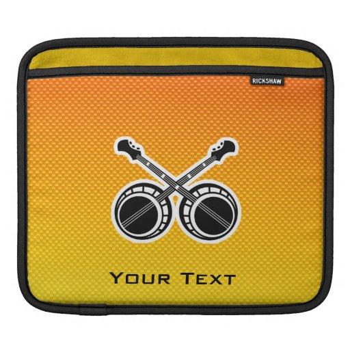 Banjos en duelo amarillo-naranja mangas de iPad