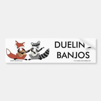 Banjos en duelo etiqueta de parachoque