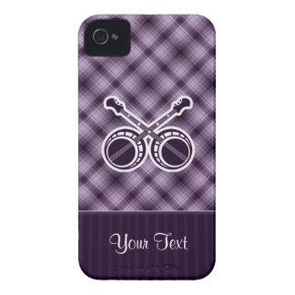 Banjos en duelo púrpuras iPhone 4 Case-Mate coberturas