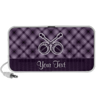Banjos en duelo púrpuras laptop altavoz