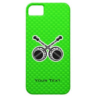 Banjos en duelo verdes iPhone 5 protectores