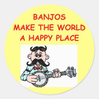 banjos pegatina redonda