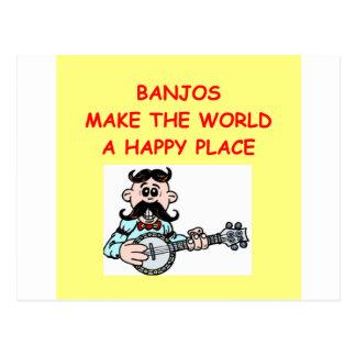 banjos postcard