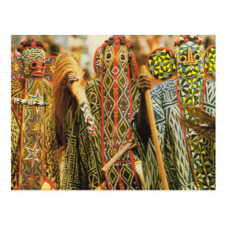 Banjouge dancers, Cameroon Postcard