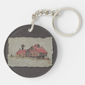 Bank Barn & Windmill Keychain