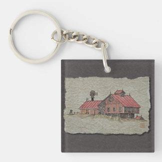 Bank Barn & Windmill Keychain