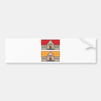Bank Building Bumper Sticker