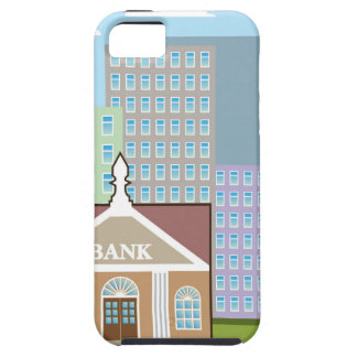Bank building city sky vector iPhone SE/5/5s case