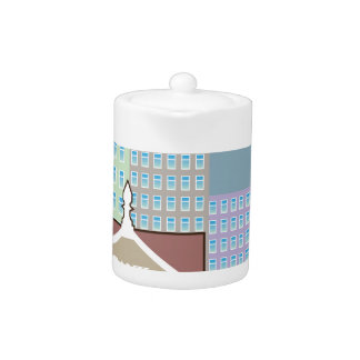 Bank building city sky vector teapot