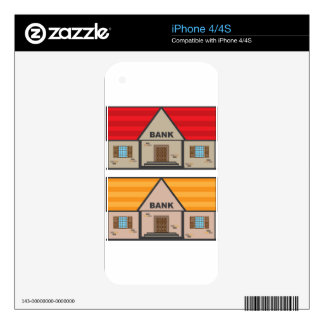 Bank Building Decal For The iPhone 4S