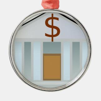 Bank Building Metal Ornament