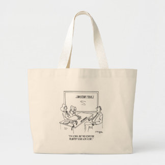 Bank Cartoon 1348 Large Tote Bag
