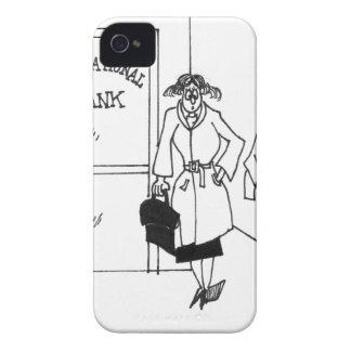 Bank Cartoon 3328 Case-Mate iPhone 4 Case