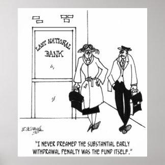 Bank Cartoon 3328 Poster
