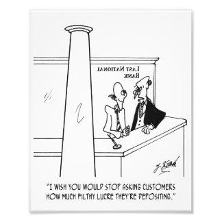 Bank Cartoon 3635 Photo Print