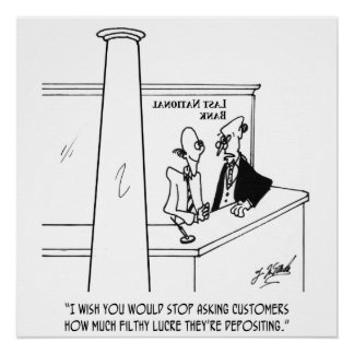 Bank Cartoon 3635 Poster