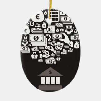 Bank Ceramic Ornament