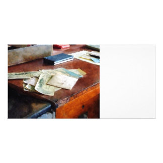 Bank Checks Dated 1923 Photo Card Template