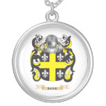 Bank Coat of Arms (Family Crest) Round Pendant Necklace
