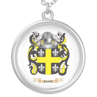 Bank Coat of Arms (Family Crest) Silver Plated Necklace