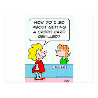 bank credit card refilled postcards