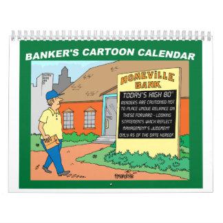BANK / FINANCIAL / INVESTING gift cartoon calendar