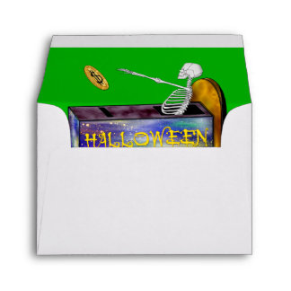 BANK HALLOWEEN A2 Note Card Envelope