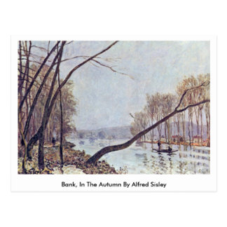 Bank, In The Autumn By Alfred Sisley Post Card