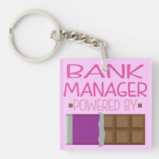 Bank Manager Chocolate Gift for Woman Keychain