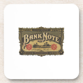 Bank Note Cigar Label Beverage Coaster