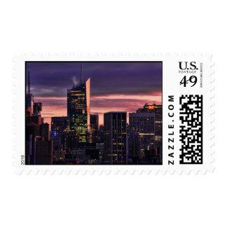 Bank of America la torre, Roca 30 enseguida Timbre Postal