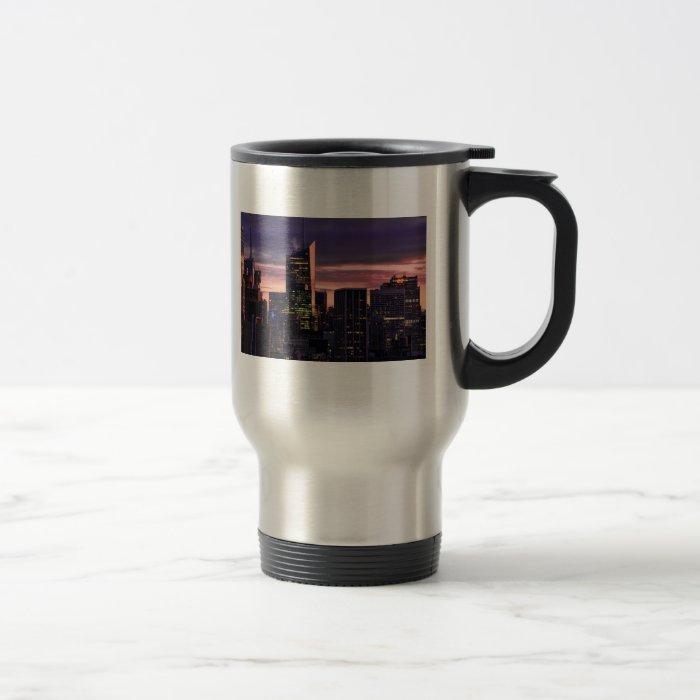 Bank of America Tower, 30 Rock just after sunrise Travel Mug
