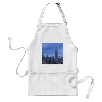 Bank of America Tower NYC hit by lightning Adult Apron