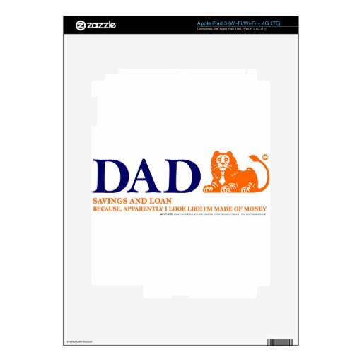 Bank of Dad 2 iPad 3 Skin