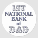 Bank Of Dad Stickers