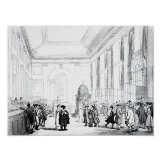 Bank of England, Great Hall, from Ackermann's Poster