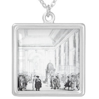 Bank of England, Great Hall, from Ackermann's Silver Plated Necklace